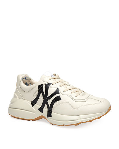 deff1e5621f Men s Rhyton NY Yankees Leather Sneakers Quick Look. Gucci