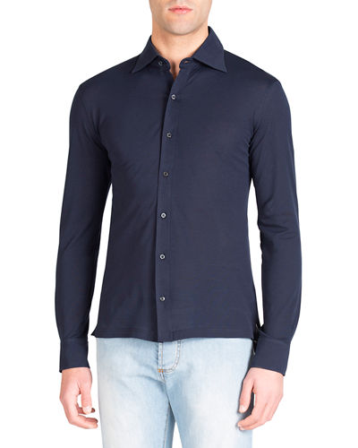 Men's Pique-Knit Sport Shirt