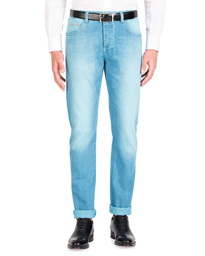 Men's Saturated Wash Denim Jeans