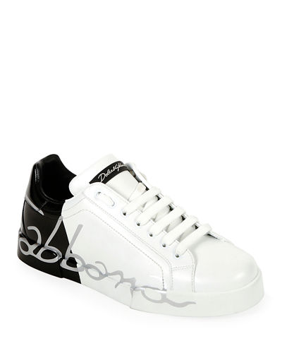 Men's Signature Portofino Logo Sneakers