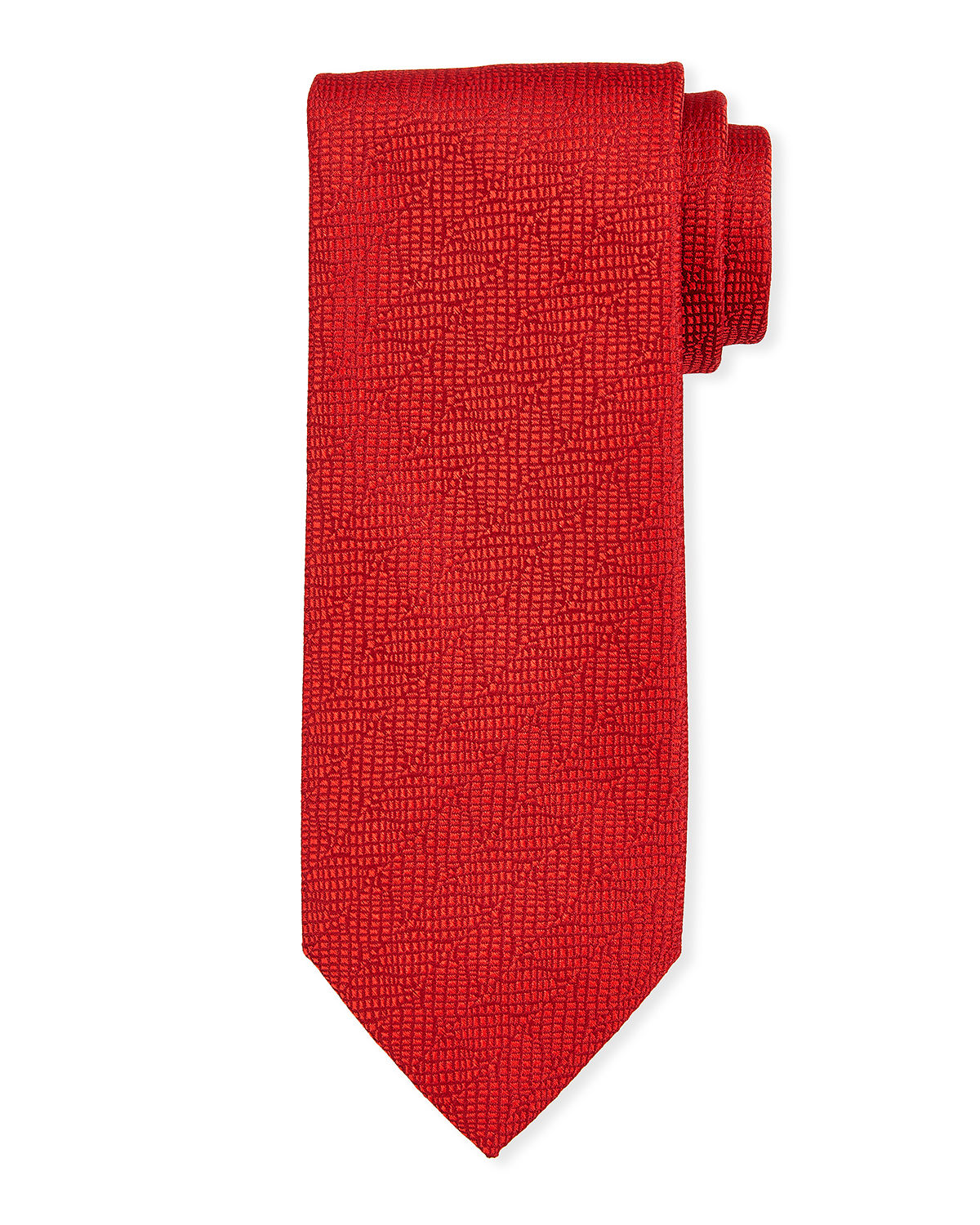 Charvet Ties TEXTURED SOLID SILK TIE