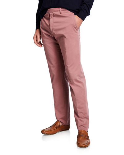 Men's Garment Dye Stretch Poplin Pants
