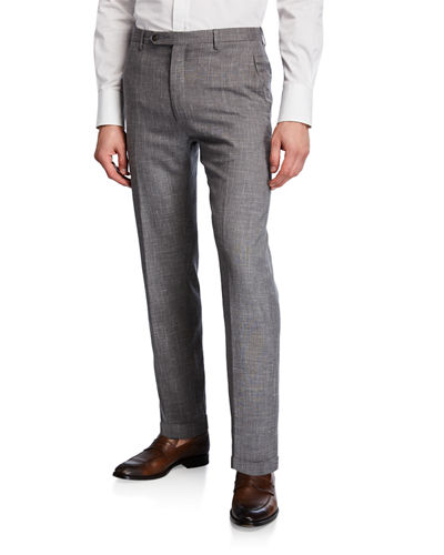 Men's Slub Weave Dress Trousers