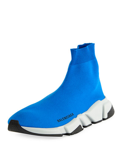 Men's Speed Mid-Top Trainer Sock Sneakers