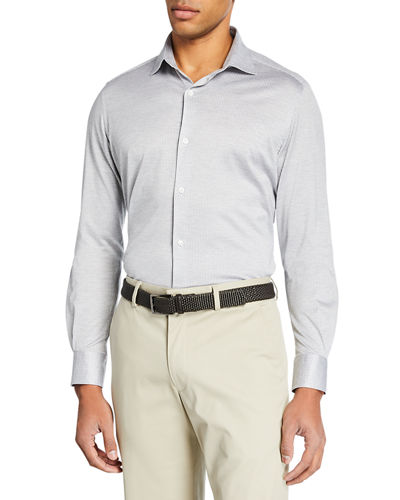 Men's Oxford Stripe Sport Shirt