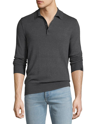 Men's Dean Long-Sleeve Polo Shirt