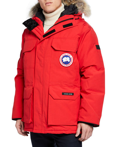Men's Expedition Fusion Fit Hooded Parka Coat