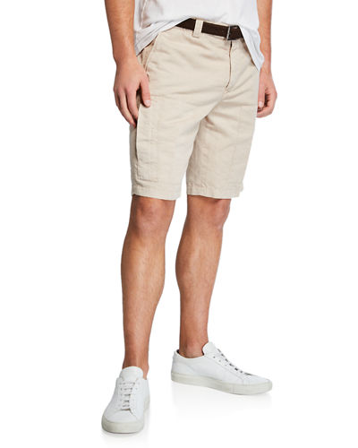 Men's Linen/Cotton Bermuda Shorts