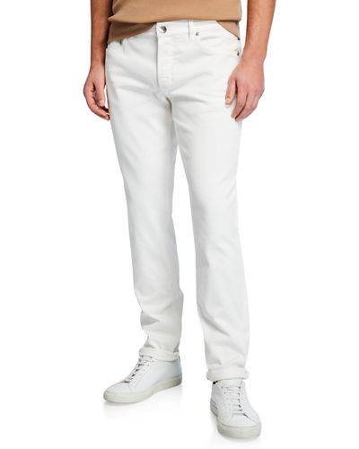 Men's Traditional Fit Twill Jeans