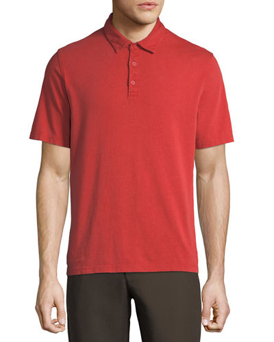 Men's Garment-Dyed Short-Sleeve Polo Shirt