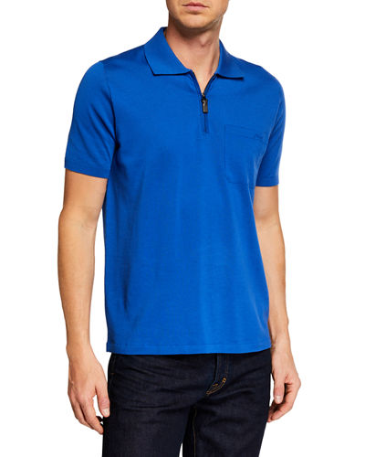 4936e76d Men's Short-Sleeve Solid Polo Shirt Quick Look. BLUE; RED. Brioni