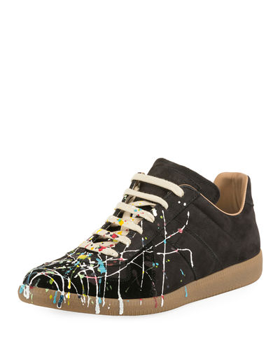 Men's Replica Paint-Splatter Low-Top Sneakers