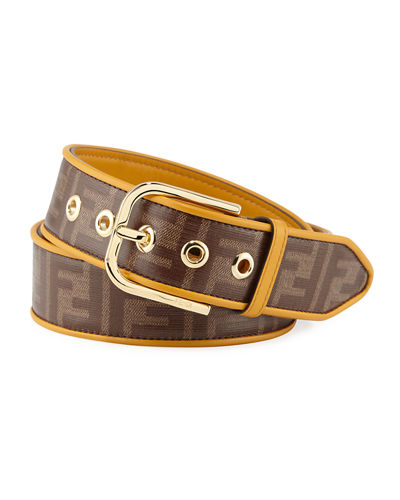 Men's Vitrified Logo-Print Canvas Belt