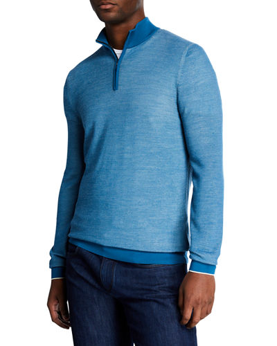 Men's Wool Quarter-Zip Sweater