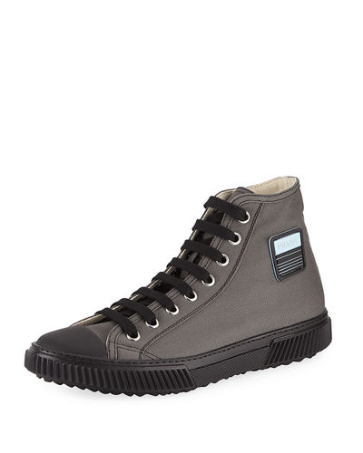 aa37ee9d Men's Canapa Canvas High-Top Sneakers