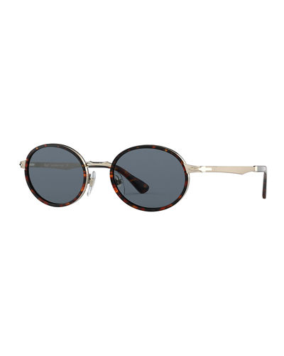 Men's PS24575 Round Metal Sunglasses