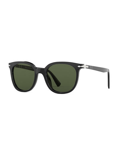 Men's PO3216S Square Acetate Sunglasses