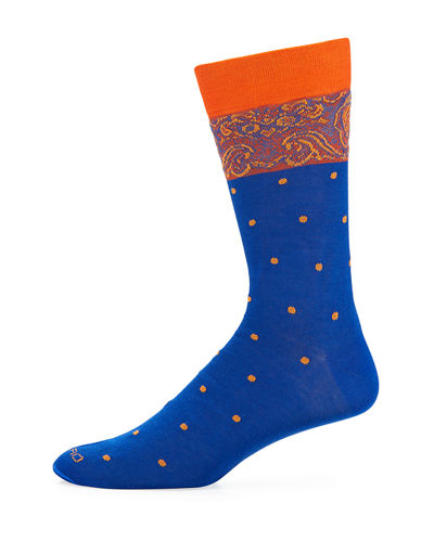 Etro Men's Dotted Cotton Socks