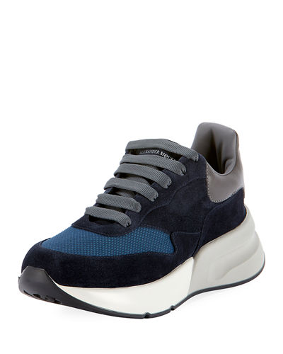 Men's Oversized Colorblock Trainer Sneakers