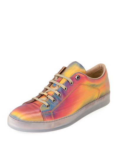 6eb0081597f2 Men s Reflective Leather Low-Top Sneakers