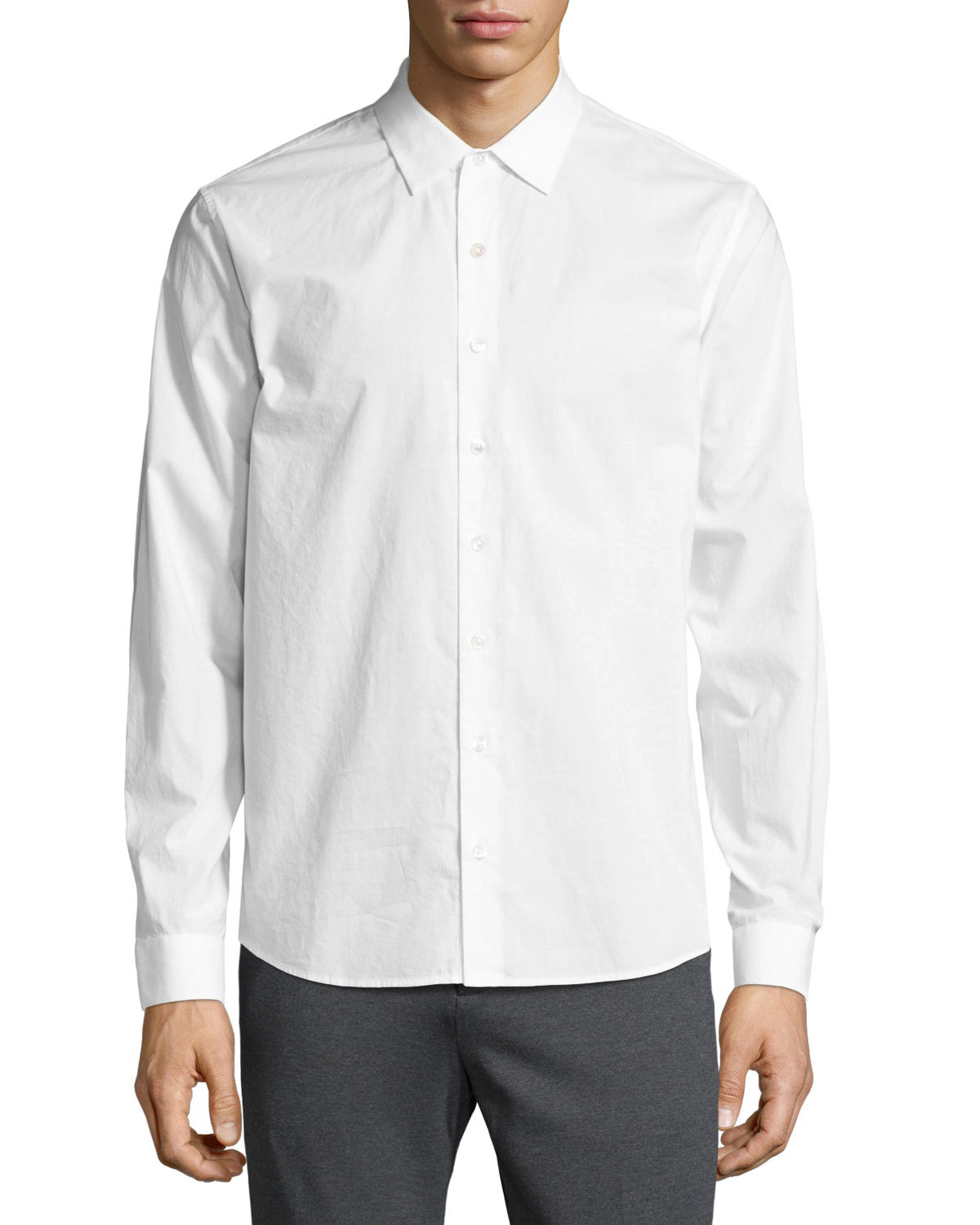 Atm Anthony Thomas Melillo T-shirts CLASSIC-FIT BUTTON-FRONT SHIRT