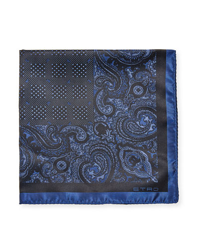 Men's Silk Pochette Tinto Filo Pocket Square