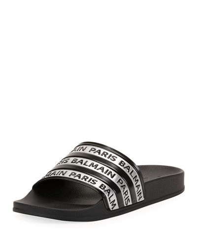 Men's Calypso Logo-Printed Slide Sandals