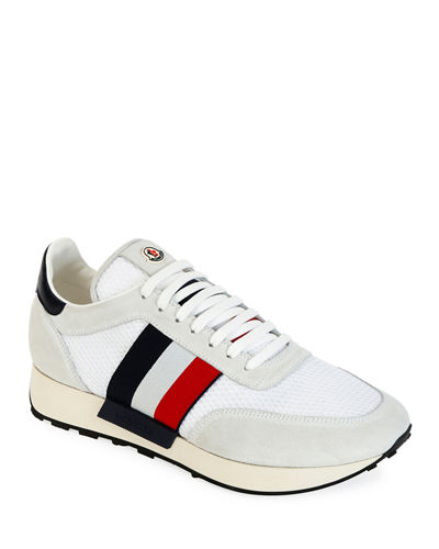 Moncler Men's Horace Suede & Nylon Trainer Sneakers
