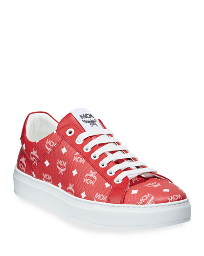 Men's Visetos Logo-Stamped Low-Top Sneakers