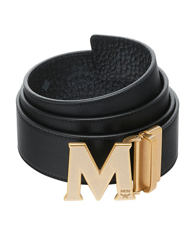 Men's Visetos Reversible M-Buckle Monogram Belt