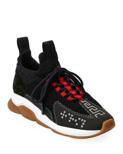Versace Men's Cross Chainer Neoprene & Mesh Sneakers