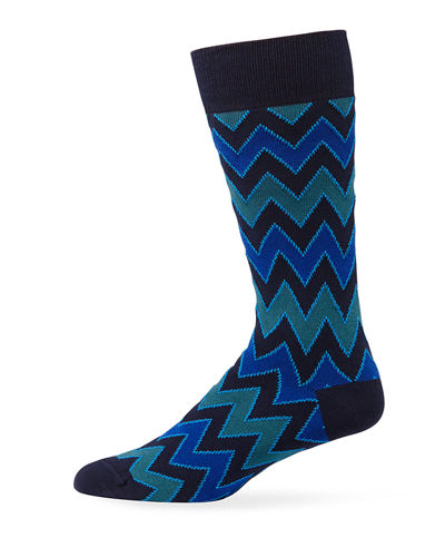 Men's Electric Zag Graphic Socks