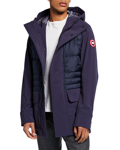 b99364e1a6746 Men's Breton Quilted-Panel Coat Quick Look. NAVY. Canada Goose
