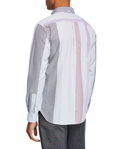 Men's Multi-Stripe Poplin Sport Shirt