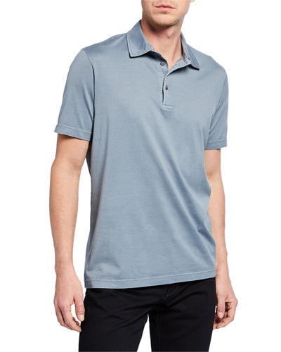 8ac16114e7b Men s Stone-Dyed Jersey Polo Shirt
