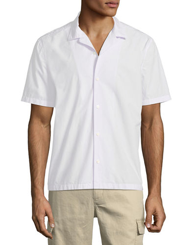 Men's Poplin Short-Sleeve Cabana Shirt