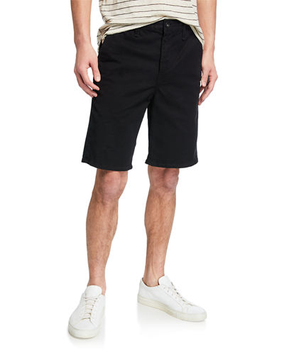 Men Casual Solid Pockets Drawstring Elastic Waist Knee Length Shorts LM 01