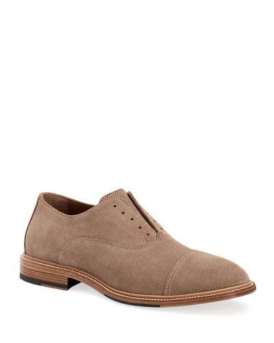 Men's Mattia Suede Slip-On Oxfords