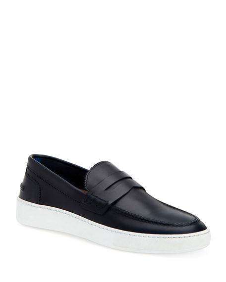 Aquatalia Loafers MEN'S GIULIANO LEATHER LOAFER SNEAKERS