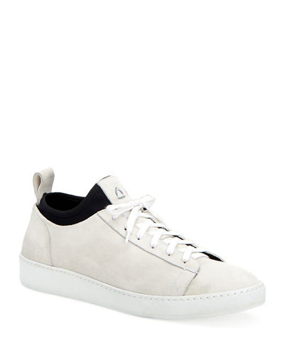 Men's Suede Low-Top Sock Sneakers