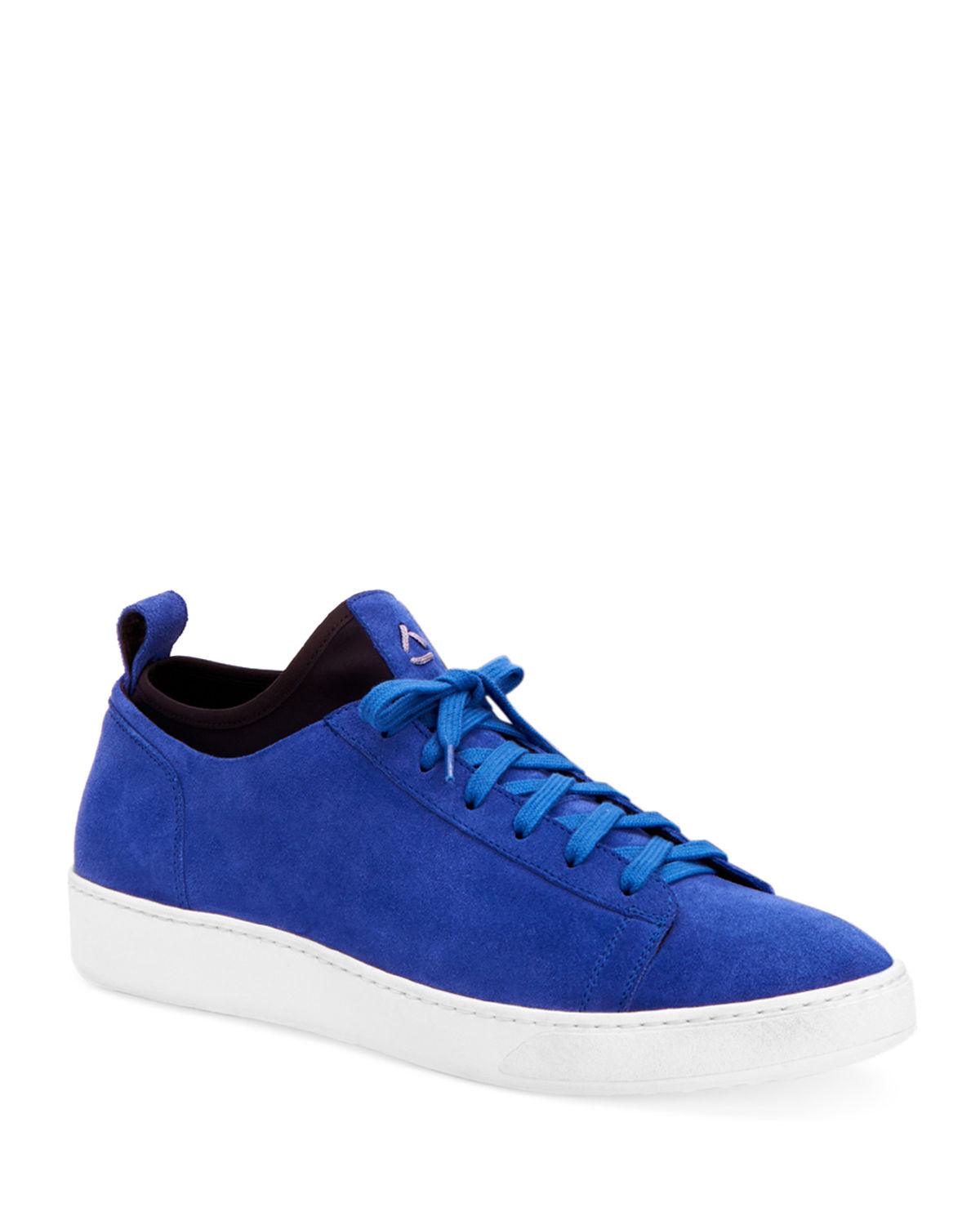 Aquatalia Sneakers MEN'S SUEDE LOW-TOP SOCK SNEAKERS