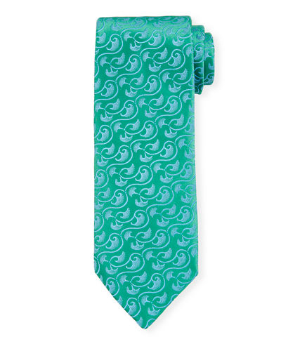 Large Neat Scroll Silk Tie