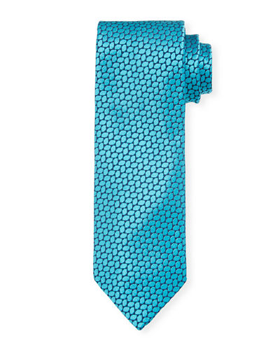 Medium Neat Geometric Silk Tie