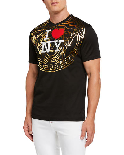 Men's I Heart NY Medusa Graphic T-Shirt