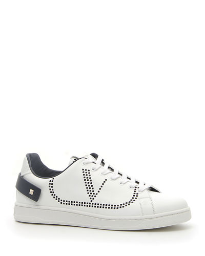 Men's Net Low-Top Leather Logo Sneakers