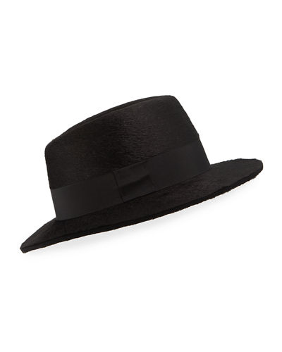 Men's Rabbit Felt Fedora Hat