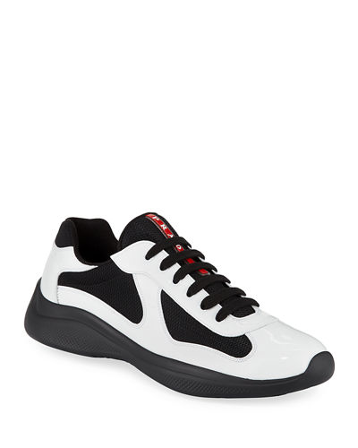 Men's America's Cup Patent Leather Patchwork Sneakers