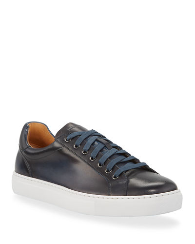 Men's Napa Leather Low-Top Sneakers