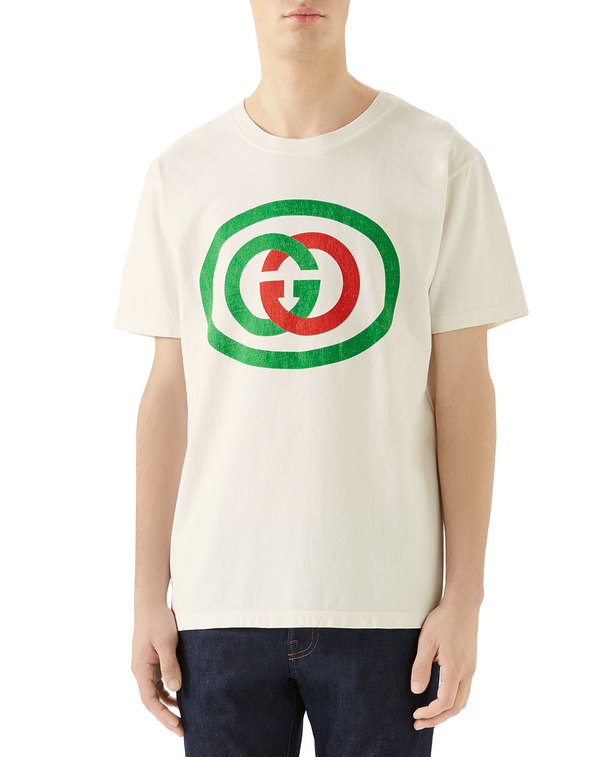 Gucci Cottons MEN'S GG LOGO T-SHIRT