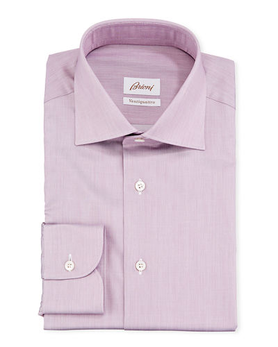 Ventiquattro Cotton Chambray Dress Shirt